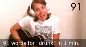 91 words for 'drunk' in 1 minute