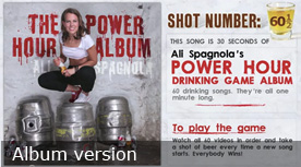 The Power Hour Album Drinking Game