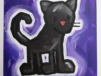 Cat on Purple