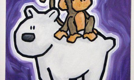 Monkey Riding A Polar Bear 2