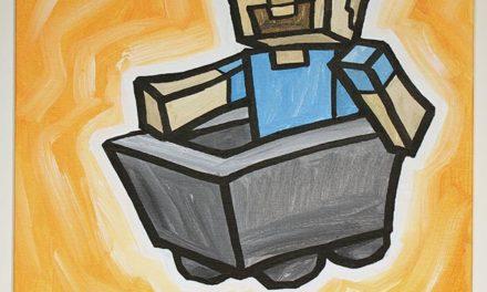 Minecraft Steve In Minecart