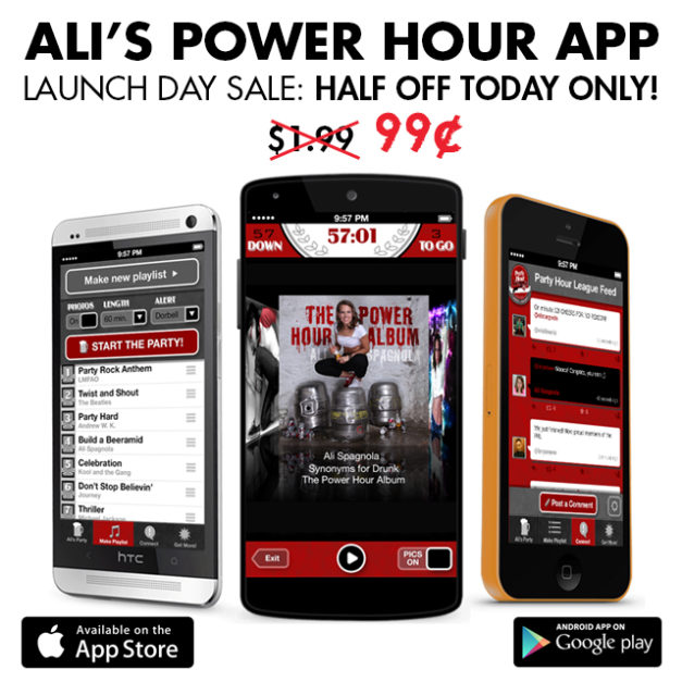 Power Hour App launching for iPhone and Android!