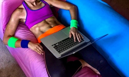 FACT: Scrolling Facebook totally burns calories if you do it in workout clothes.