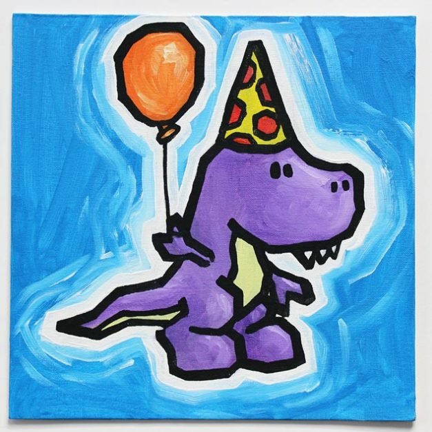 Dinosaur With Balloon I