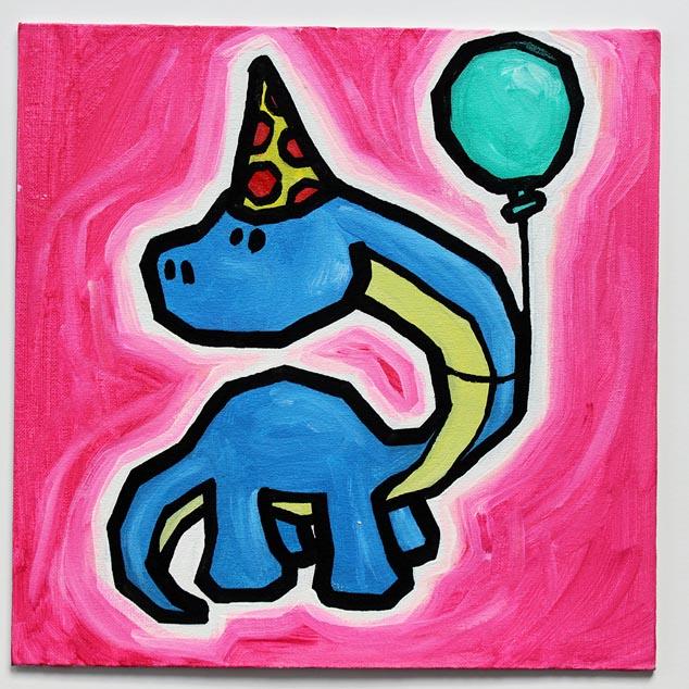 Dinosaur With Balloon II