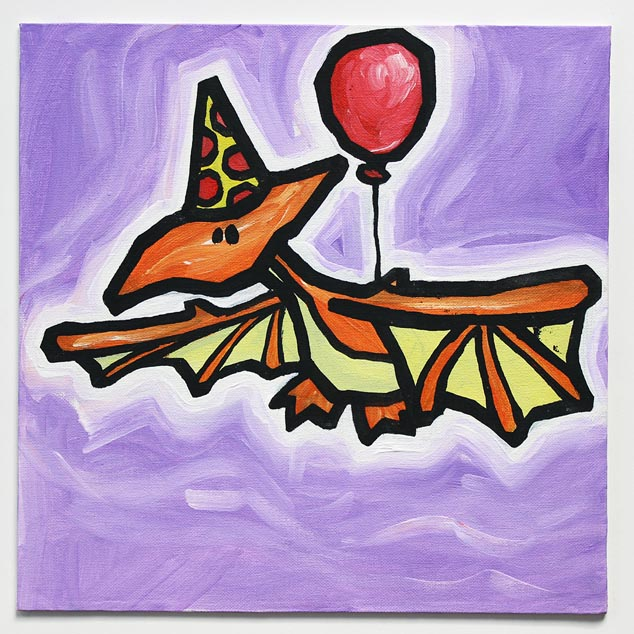Dinosaur With Balloon III