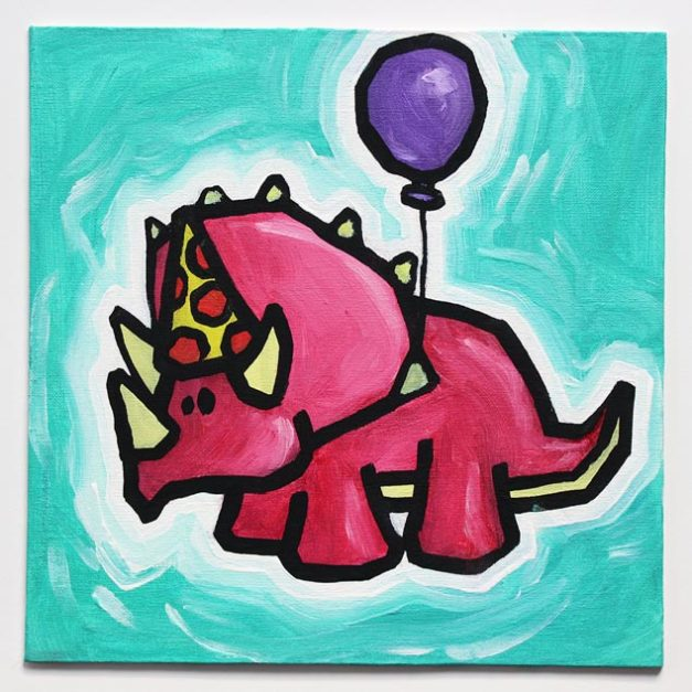 Dinosaur With Balloon IV