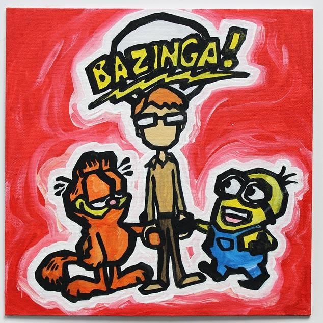 Big Bang Theory, Garfield And Minion