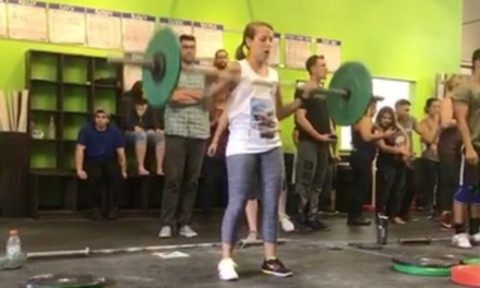 This is me beating myself (personal record)… and losing to everyone else (probably lifted the lightest at this competition). The first part is the point that matters.