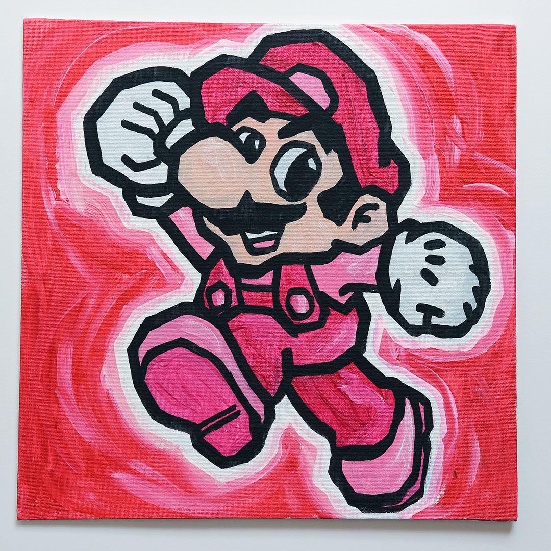 Pink Super Mario