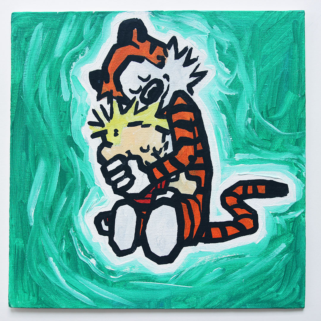 Calvin and Hobbes Hug
