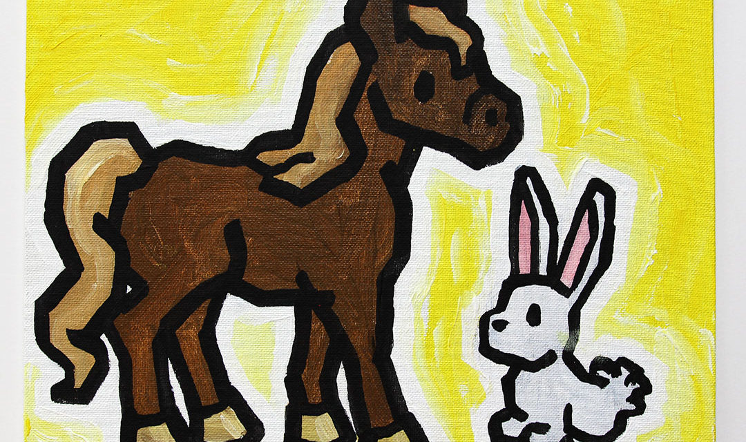 Horse with Bunny
