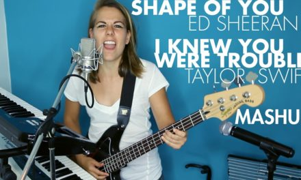 """Shape of You"" Ed Sheeran + ""I Knew You Were Trouble"" Taylor Swift (Ali Spagnola mashup cover)"