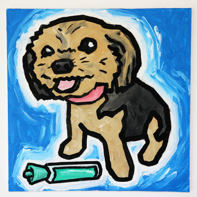 Dog with Dry Erase Marker