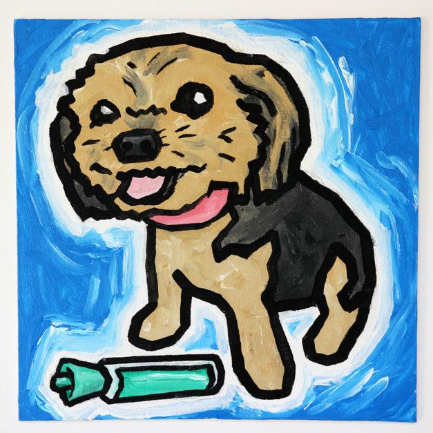 Dog with Dry Erase Marker