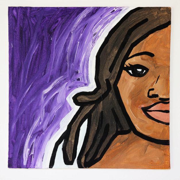 Girl on Purple